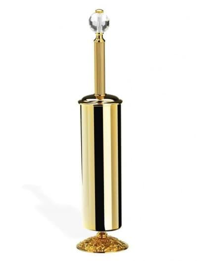 Stil Haus Noto Light, напольный металлический ёршик для унитаза со стеклом Murano, хром NT039V(08)
