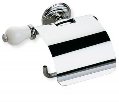 Stil Haus Nemi, бумагодержатель закрытый, цвет хром - белая керамика N11с(39)