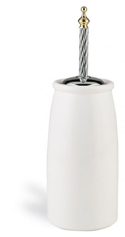 Stil Haus Giunone, напольный керамический ёршик для унитаза, цвет белый - золото G12А(04)