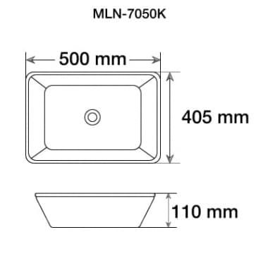 Керамическая раковина для ванной MELANA MLN-7050K