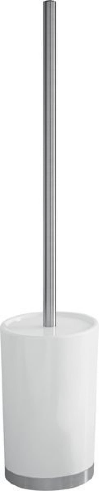 Gedy G-Petunia, напольный керамический ёршик для унитаза, цвет хром - белая керамика PE33(02)