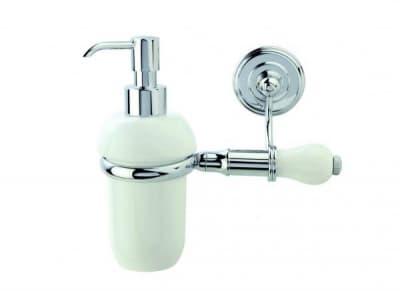 Stil Haus Nemi, настенный керамический дозатор, цвет хром - белая керамика N30(39)