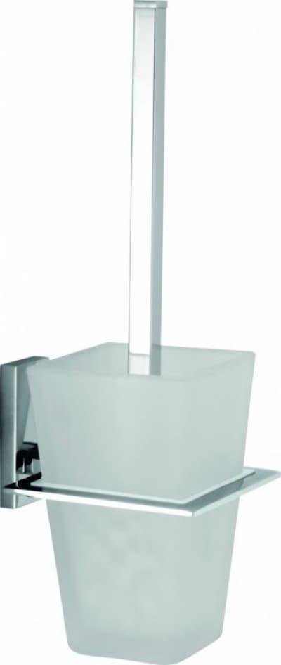 Sanibano Agatha, настенный стеклянный ёршик для унитаза, цвет хром H9950/10CR