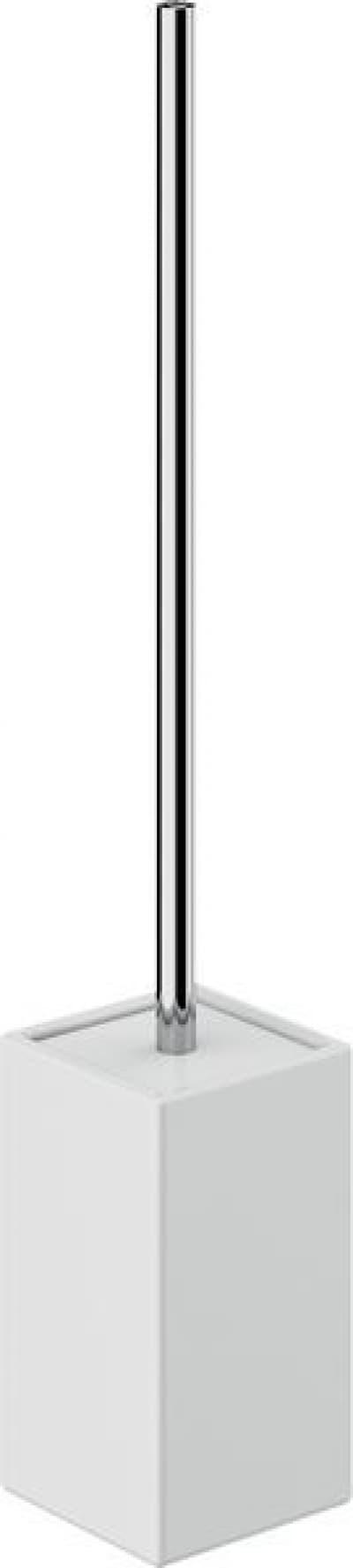 Gedy G-Verbena, напольный керамический ёршик для унитаза, цвет хром - белая керамика VE33(02)