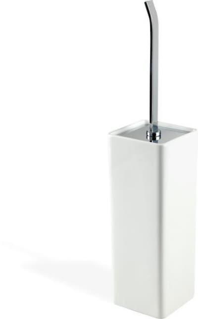 Stil Haus Gea, настенный керамический ёршик для унитаза, цвет хром - белая керамика GE12M(08)
