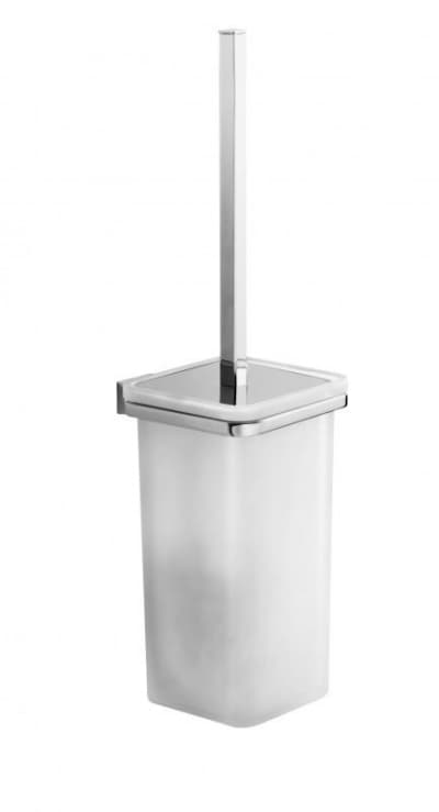 Gedy G-Glamour, настенный стеклянный ёршик для унитаза, цвет хром 5733/03(13)