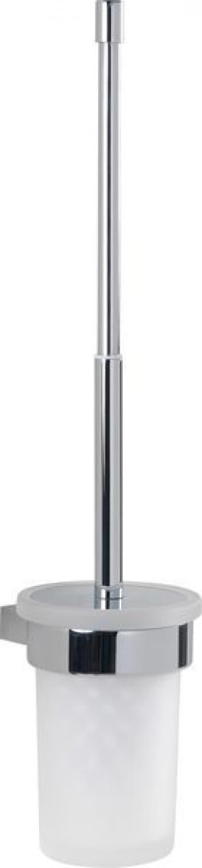 Gedy G-Canarie, настенный стеклянный ёршик для унитаза с телескопической ручкой, цвет хром A233/03(13)