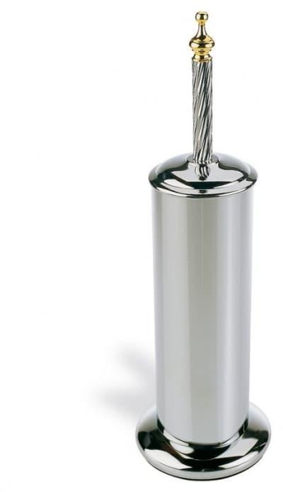 Stil Haus Giunone, напольный металлический ёршик для унитаза, цвет хром - золото G039(02)