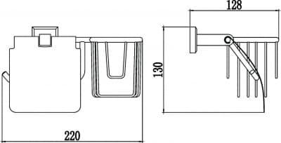 Бумагодержатель и держатель освежитель воздуха Savol S-L09551