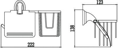 Бумагодержатель и держатель освежителя воздуха Savol S-L03151