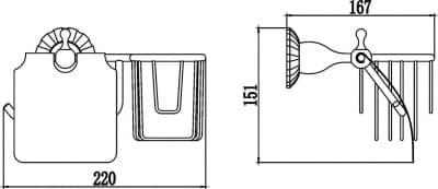 Бумагодержатель и держатель освежителя воздуха Savol S-L8951C