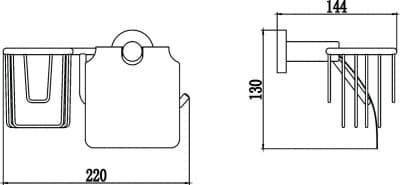 Бумагодержатель и держатель освежителя воздуха Savol S-R08751