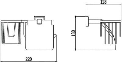 Бумагодержатель и держатель освежителя воздуха Savol S-R09551