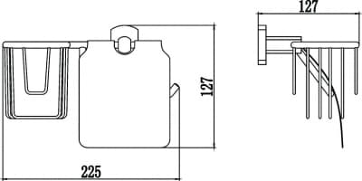 Бумагодержатель и держатель освежителя воздуха Savol S-R09951