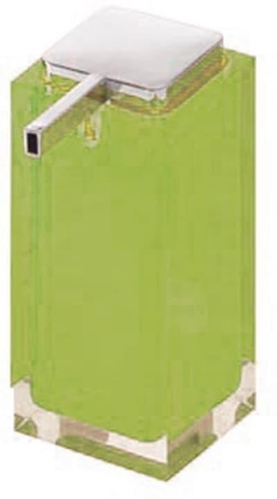 Gedy G-Rainbow, настольный дозатор с плоским носом, цвет хром - зеленый RA80(04)