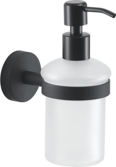 Gedy G-Eros, настенный стеклянный дозатор, цвет черный матовый 2381(14)