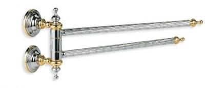 Stil Haus Giunone, полотенцедержатель двойной поворотный, цвет белый - золото G16(04)