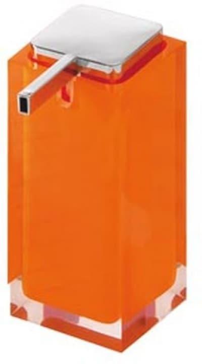 Gedy G-Rainbow, настольный дозатор с плоским носом, цвет хром - оранжевый RA80(67)