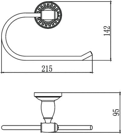Держатель для полотенец кольцевой Savol S-006660С