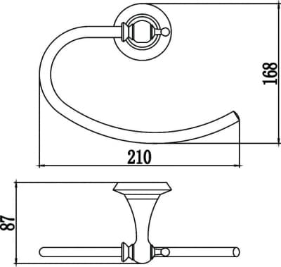 Держатель для полотенец кольцевой Savol S-06960W