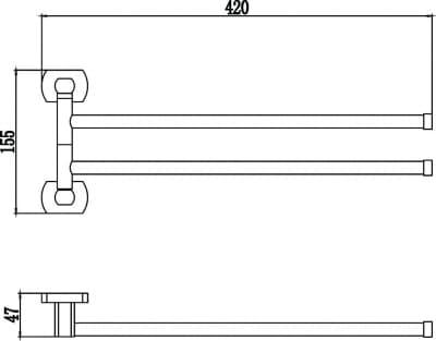 Держатель для полотенец поворотный (2-ой) Savol S-009902