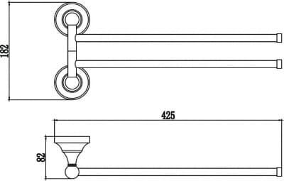 Держатель для полотенец поворотный (2-ой) Savol S-06802A