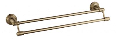 Держатель для полотенец прямой (2-ой) 60 см Savol S-606648С