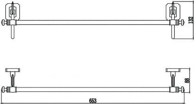 Держатель для полотенец прямой 60 см Savol S-606424