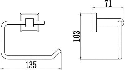 Держатель для туалетной бумаги без крышки Savol S-009552