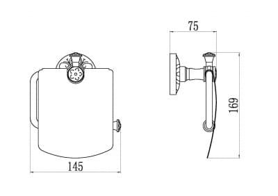 Держатель для туалетной бумаги с крышкой Savol S-005851С