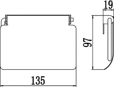 Держатель для туалетной бумаги Savol S-006623