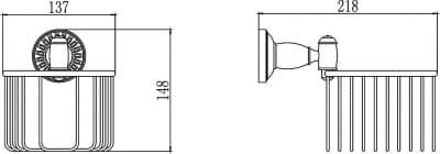 Держатель для туалетной бумаги Savol S-006655С