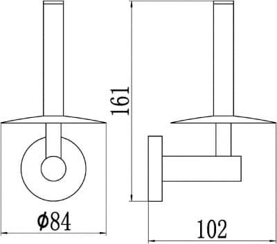 Держатель для туалетной бумаги Savol S-008752-1