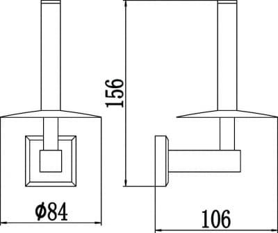 Держатель для туалетной бумаги Savol S-009552-1