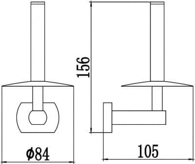 Держатель для туалетной бумаги Savol S-009952-1