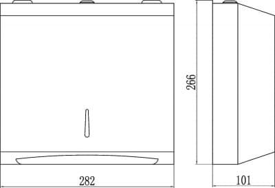 Диспенсер для бумажных полотенец глянцевый Savol S-F6002R
