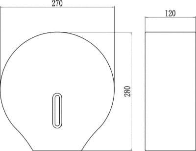 Диспенсер для туалетной бумаги Savol СF8232W