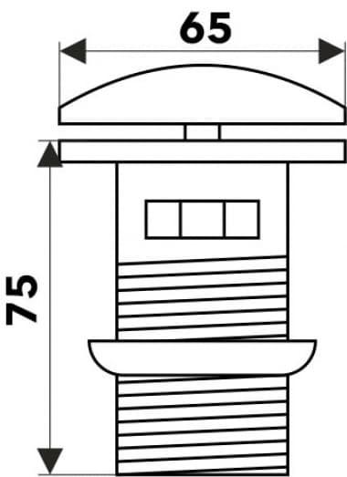 Донный клапан с переливом (белый) MELANA MLN-TB20