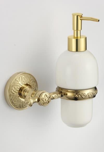 Дозатор для жидкого мыла с настенным держателем Savol S-005831B