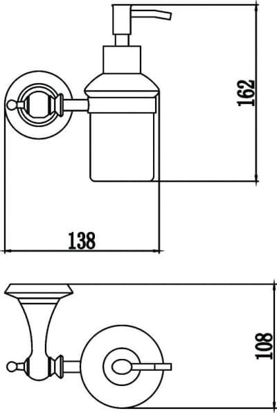 Дозатор для жидкого мыла с настенным держателем Savol S-06931W