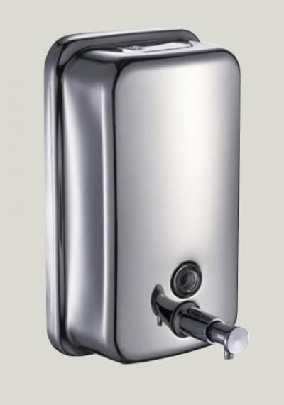 дозатор жидкого мыла настенный нержавеющий, для комплектации объектов хром, 500ml Savol S-401