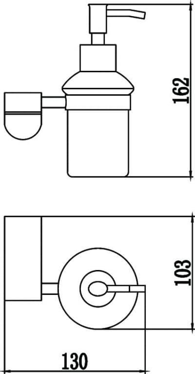 Дозатор жидкого мыла Savol S-007331