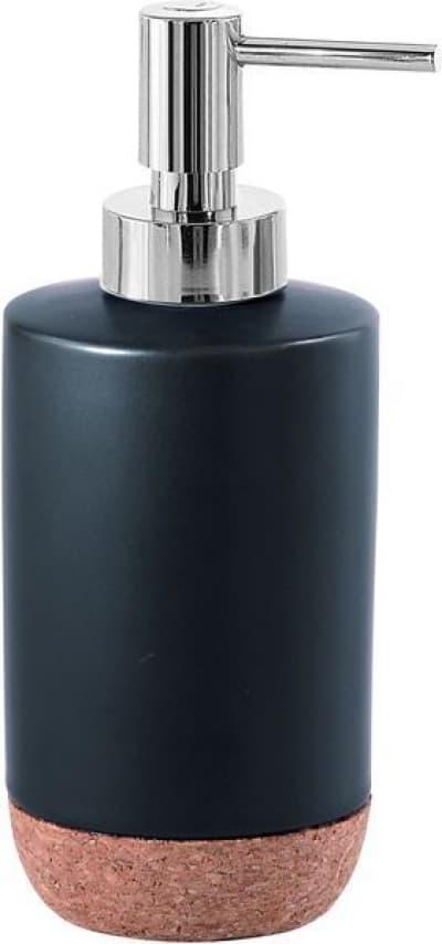 Gedy G-Ilary, настольный керамический дозатор, цвет хром - черная матовая керамика IL80(14)