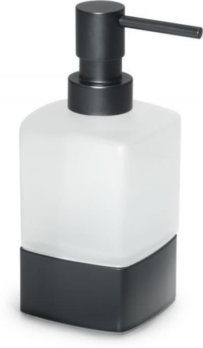 Gedy G-Lounge, настольный стеклянный дозатор на металлическом основании, цвет черный матовый 5455(14)