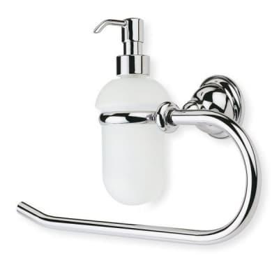Stil Haus Elite, полотенцедержатель - полукольцо + стеклянный дозатор, цвет бронза EL79D(25)