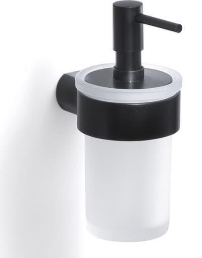 Gedy G-Pirenei, настенный стеклянный дозатор, цвет черный матовый PI81(14)