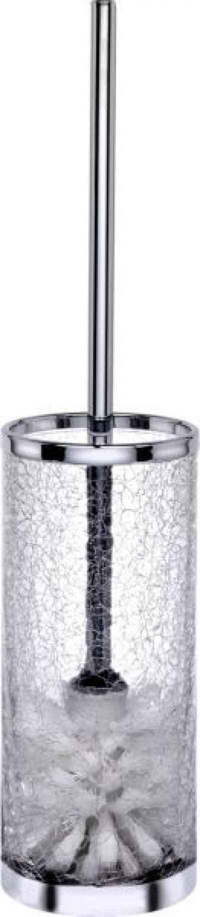Surya Crystal, напольный ёршик для унитаза без крышки, цвет золото - стекло с эффектом волны 6609/GO-WAV