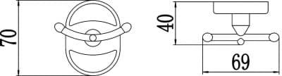Крючок двойной Savol S-007054