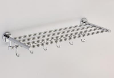 Полка для полотенец 60 см(6 крючков) Savol S-608745