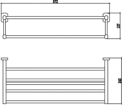 Полка для полотенец 60 см Savol S-009944